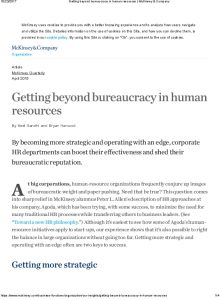 Icon of Getting Beyond Bureaucracy In Human Resources