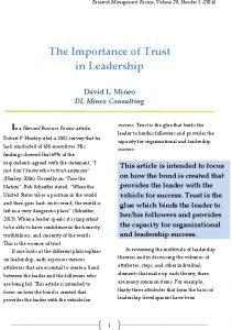 Icon of The Importance Of Trust In Leadership