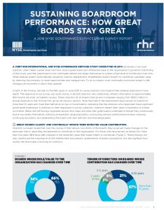 Icon of Sustaining Boardroom Performance, How Great Boards Stay Great