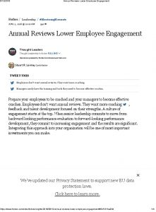 Icon of Annual Reviews Lower Employee Engagement