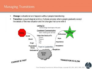 Icon of Managing Transition by William Briggs.  Change and Transformation Model